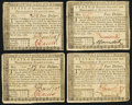 Colonial Notes:Rhode Island, Rhode Island July 2, 1780 $4 Extremely Fine or better. FourExamples.. ... (Total: 4 notes)