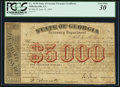 Obsoletes By State:Georgia, Milledgeville, GA- State of Georgia $5,000 June 14, 1864 Cr. TC05. ...
