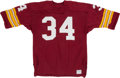 Football Collectibles:Uniforms, Circa 1978 Tony Green Game Worn Washington Redskins Cold Weather Jersey....