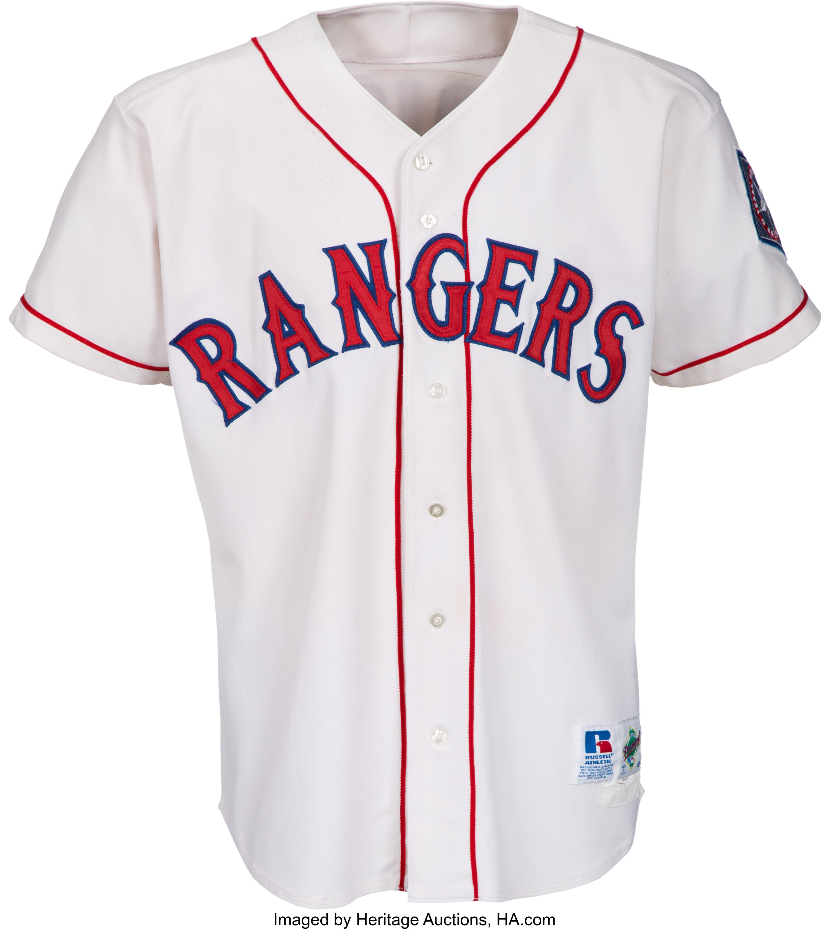 new concept f72be 0fe74 1998-99 Ivan Rodriguez Game Worn Texas Rangers Jersey ...