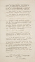 Autographs:U.S. Presidents, Harry S. Truman Signed Farewell Address Delivered on January 15,1953. ...