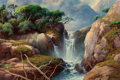 Paintings, A.D. Greer (American, 1904-1998). Silver Waterfall. Oil on canvas. 24 x 36 inches (61.0 x 91.4 cm). Signed lower right: ...