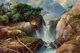 A.D. Greer (American, 1904-1998) Silver Waterfall Oil on canvas 24 x 36 inches (61.0 x 91.4 cm) Signed lower right: