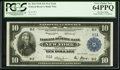 Large Size:Federal Reserve Bank Notes, Fr. 810 $10 Serial Number One 1918 Federal Reserve Bank Note PCGSVery Choice New 64PPQ.. ...
