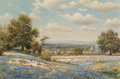 Fine Art - Painting, American, William Robert Thrasher (American, 1908-1997). Bluebonnets.Oil on canvas. 24 x 36 inches (61.0 x 91.4 cm). Signed lower...