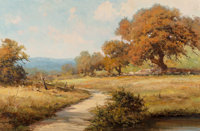 Robert William Wood (American, 1889-1979) November in Texas Oil on canvas 24 x 36 inches (61.0 x