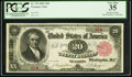 Large Size, Fr. 375 Serial Number One $20 1891 Treasury Note PCGS Very Fine 35.. ...