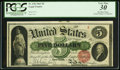 Large Size:Legal Tender Notes, Fr. 63b $5 1863 Legal Tender PCGS Very Fine 30.. ...
