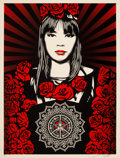 Prints & Multiples, Shepard Fairey (b. 1970). Rose Girl, 2008. Screenprint in colors on speckled paper. 24 x 18 inches (61.0 x 45.7 cm) (she...