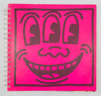 Keith Haring (1958-1990) Untitled, 1982 Spiral bound book 9 x 9 x 0-5/8 inches (22.9 x 22.9 x 1.6