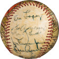 Baseball Collectibles:Balls, 1962 Chicago White Sox Partial Team Signed Baseball with George Sosnak Artwork.. ...