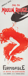 Fine Art - Work on Paper:Print, René Gruau (Italian/French, 1910-2004). New revue, Bal at the Moulin Rouge, Formidable, the centenary revue, 1988. Color...
