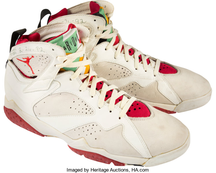 sports shoes ebada 27b66 1992 Michael Jordan Game Worn & Signed Air Jordan VII | Lot ...
