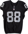Football Collectibles:Uniforms, 2016 Clive Walford Game Worn, Unwashed Oakland Raiders Jersey - Used 11/6 vs. Broncos. ...