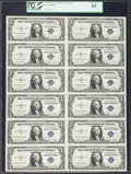 Small Size:Silver Certificates, Fr. 1613W $1 1935D Silver Certificates. Uncut Sheet of 12. PCGS Choice New 63.. ...