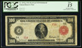 Fr. 1076a $100 1914 Red Seal Federal Reserve Note PCGS Fine 15