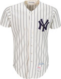 Baseball Collectibles:Uniforms, 1977 Lou Piniella World Series Game Worn New York Yankees Jersey, MEARS A8--Photo Matched!. ...