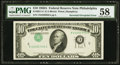 Error Notes:Inverted Third Printings, Fr. 2011-C $10 1950A Federal Reserve Note. PMG Choice About Unc58.. ...