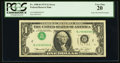 Error Notes:Inverted Third Printings, Fr. 1908-B $1 1974 Federal Reserve Note. PCGS Very Fine 20.. ...