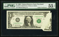 Fr. 1921-D $1 1995 Federal Reserve Note. PMG About Uncirculated 55 EPQ
