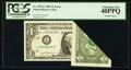 Error Notes:Foldovers, Fr. 1911-L $1 1981 Federal Reserve Note. PCGS Extremely Fine40PPQ.. ...