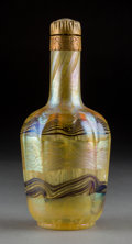 Art Glass:Other , Tiffany Studios Favrile Glass and Gilt Bronze Perfume Bottle. Circa1898 Engraved I0157. Ht. 7 in.. ...