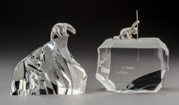 Steuben Glass and Silver Arctic Fisherman and Ice (Polar) Bear