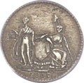 Hard Times Tokens, 1837 3C Feuchtwanger Three Cent, New York Coat of Arms, Low-117, HT-262, R.3, AU53 PCGS. CAC....