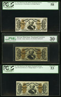 Fractional Currency:Third Issue, Seven Third Issue 50¢ Spinner Fractionals.. ... (Total: 7 notes)