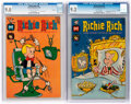 Silver Age (1956-1969):Humor, Richie Rich #50 and 68 CGC-Graded File Copies Group (Harvey, 1966-68).... (Total: 2 Comic Books)