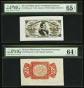 Fractional Currency:Third Issue, Fr. 1291SP 25¢ Third Issue Wide Margin Face PMG Choice Uncirculated 65 EPQ.. Fr. 1291SP 25¢ Third Issue Wide Margin Red Back P... (Total: 2 notes)