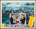 """Movie Posters:Documentary, Land of Liberty (MGM, 1939). Lobby Card (11"""" X 14""""). Documentary.. ..."""