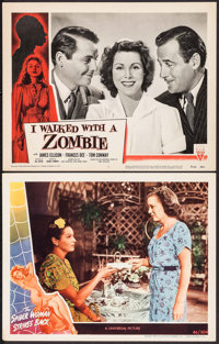 """The Spider Woman Strikes Back & Other Lot (Universal, 1946). Lobby Cards (2) (11"""" X 14""""). Horror. ... (Tot..."""