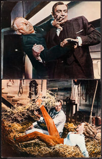 """Goldfinger (United Artists, 1964). British Deluxe Lobby Cards (2) (11"""" X 14""""). James Bond. ... (Total: 2 Items..."""
