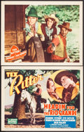 """Movie Posters:Western, Headin' For the Rio Grande (Grand National, 1936). Title Lobby Card & Lobby Card (11"""" X 14""""). Western.. ... (Total: 2 Items)"""
