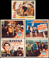"Stars Over Arizona & Others Lot (Monogram, 1937). Very Fine-. Title Lobby Cards (2) & Lobby Cards (3) (11""..."
