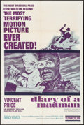 "Movie Posters:Horror, Diary of a Madman (United Artists, 1963). One Sheet (27"" X 41"").Horror.. ..."