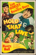 "Movie Posters:Comedy, Hold That Line (Monogram, 1952). Folded, Fine/Very Fine. One Sheet(27"" X 41""). Comedy.. ..."