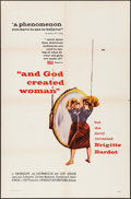 """Movie Posters:Foreign, And God Created Woman (Kingsley International, 1956). One Sheet (27"""" X 41""""). Foreign.. ..."""