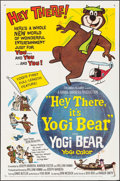 "Movie Posters:Animation, Hey There, It's Yogi Bear (Columbia, 1964). Folded, Very Fine-. One Sheet (27"" X 41""). Animation.. ..."