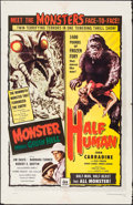 """Movie Posters:Horror, Monster from Green Hell/Half Human Combo (DCA, 1957). Folded,Fine+One Sheet (27"""" X 41""""). Horror.. ..."""