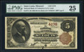 National Bank Notes, Saint Louis, MO - $5 1882 Brown Back Fr. 474 The NB of Commerce Ch.# 4178. ...