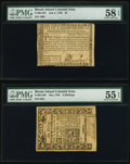 Colonial Notes:Rhode Island, Rhode Island 1780-86 Colonials.. ... (Total: 2 notes)