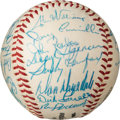 Autographs:Baseballs, 1961 Los Angeles Dodgers Team Signed Baseball.. ...