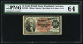 Fractional Currency:Fourth Issue, Fr. 1307 25¢ Fourth Issue PMG Choice Uncirculated 64.. ...