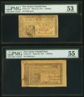 Colonial Notes:New Jersey, New Jersey March 25, 1776 1s Two Examples.. ... (Total: 2 notes)