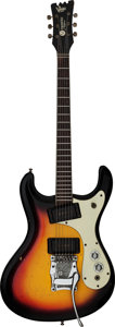 Musical Instruments:Electric Guitars, Circa 1966 Mosrite Ventures Sunburst Solid Body Electric Guitar,Serial # 4635....