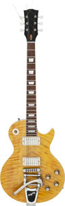 Musical Instruments:Electric Guitars, 2009 Homemade Les Paul Copy Yellow Solid Body Electric Guitar,Serial # N/A....