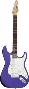 Musical Instruments:Electric Guitars, Circa 2007 Peavey Predator Ax Purple Solid Body Electric Guitar,Serial # 07410446....