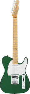 Musical Instruments:Electric Guitars, Circa 2000 Squier by Fender Telecaster Metallic Green Solid Body Electric Guitar, Serial # N/A....